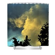 Coloring Clouds Shower Curtain