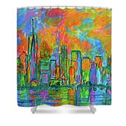 Coloring The Big Apple Shower Curtain