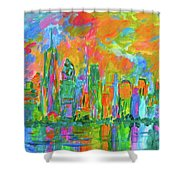 Coloring The Big Apple Stage One Shower Curtain