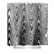 Colorless Wood Grain Shower Curtain