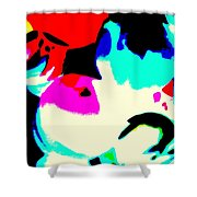 Colors 3 Shower Curtain