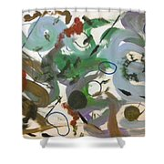 Colors And Shapes Shower Curtain