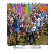 Colors Go Up Shower Curtain