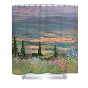 Colors In Tuscany Shower Curtain