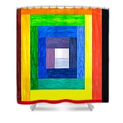 Colors Into One Shower Curtain