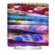 Colors Material Horizontal Pa 02 Shower Curtain