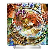 Colors Of A Banjo Busker Shower Curtain