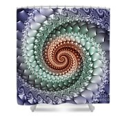 Colors Of A Spiral Shower Curtain