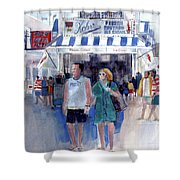 Colors Of A Summer - Jersey Shore Shower Curtain