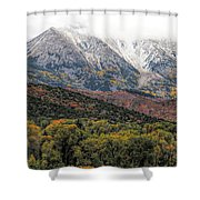 Colors Of Autumn On Mcclure Pass Shower Curtain