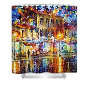 Colors Of Emotions - Palette Knife Oil Painting On Canvas By Leonid Afremov Shower Curtain