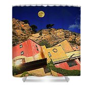 Colors Of Liguria Houses - Facciate Case Colori Di Liguria 3 Shower Curtain