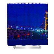 Colors Of Mackinac At Dusk Shower Curtain