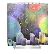 Colors Of The City Shower Curtain