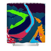 Colors Of The Coral Shower Curtain
