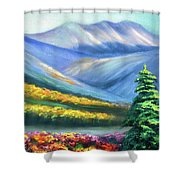 Colors Of The Mountains 2 Shower Curtain