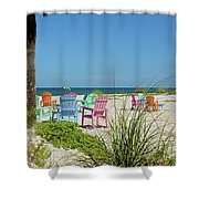 Colors Of The Seats Shower Curtain