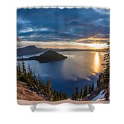 Colors Of The Spring Morning At Discovery Point Shower Curtain