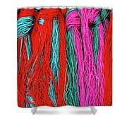 Colors Of Tibet Shower Curtain