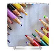 Colors. Old Pencils Shower Curtain