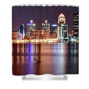 Colors On The Louisville Riverfront Shower Curtain