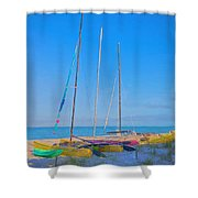 Colors On The Shore Shower Curtain