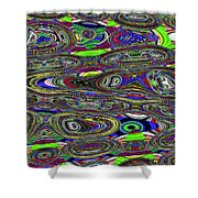 Colors Rolled And Flattened Abstract Shower Curtain
