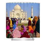 Colorful Saris At Taj Mahal Shower Curtain