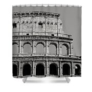Colosseum Or Coliseum Black And White Shower Curtain