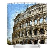 Colosseum Or Coliseum Pencil Shower Curtain