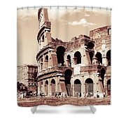 Colosseum Toned Sepia Shower Curtain