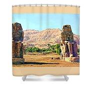 Colossi Of Memnon Shower Curtain