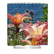 Colour At The Lake Shower Curtain