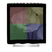 Colour Block Poppy Triptych Shower Curtain