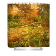 Colour Explosion In The Japanese Gardens Shower Curtain