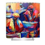 Colour Pan Shower Curtain