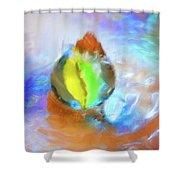 Colour Splash Shower Curtain