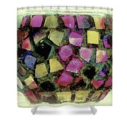 Coloured Glass Bowl Shower Curtain