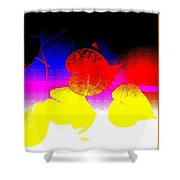 Coloured Hearts I Shower Curtain
