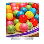 Colourful Bubblegum Candy Balls Shower Curtain