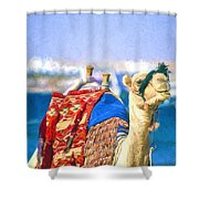 Colourful Camel Shower Curtain