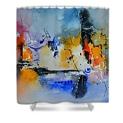 Colourful Christmas Shower Curtain