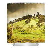 Colourful Fields And Farmyards Shower Curtain