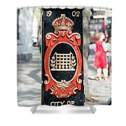 Colourful Lamp Post With The City Of Westminster Coat Of Arms London Shower Curtain