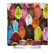 Colourful Morroccan Slipper Shower Curtain