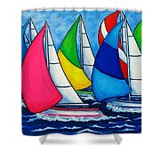 Colourful Regatta Shower Curtain