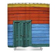 Colourful Shutters La Boca Buenos Aires Shower Curtain