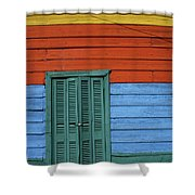 Colourful Shutters La Boca Buenos Aires Shower Curtain