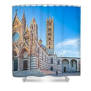 Colourful Siena Cathedral Shower Curtain