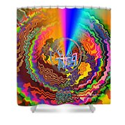 Colourful Swirl Of Goodluck Shower Curtain